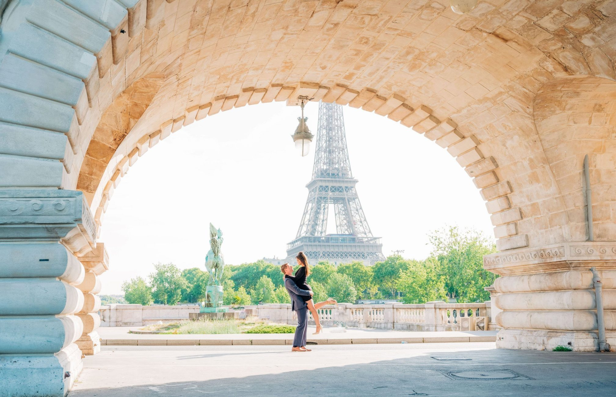 black dress engagement pictures eiffel tower
