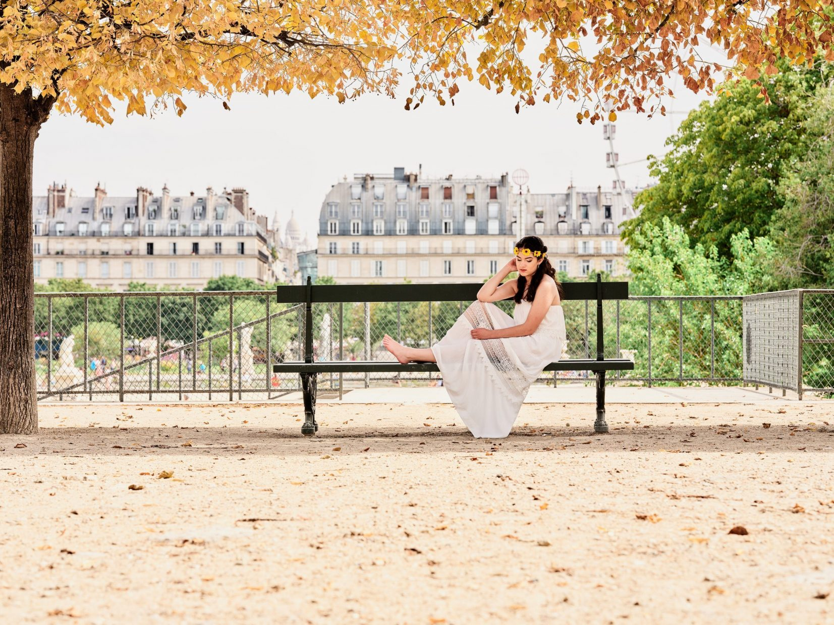 outdoor model photography in france